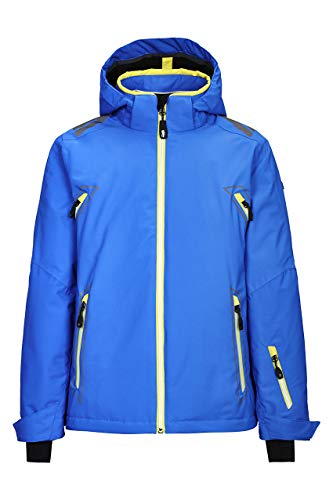 Killtec Kinder Dalyn Jr Skijacke/Funktionsjacke Mit Abzippbarer Kapuze Und Schneefang, blau, 176