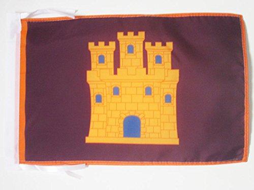 AZ FLAG Bandera de Castilla INDEPENDENTISTA 45x30cm - BANDERINA CASTELLANA NACIONALISTA 30 x 45 cm cordeles