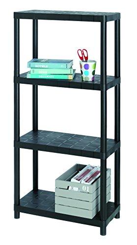 Allibert 17189801 Kunststoffregal mit 4 Einlegeböden Belastbarkeit pro Boden 25 kg / 100 Kg