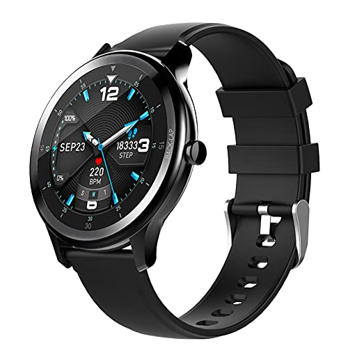 WEINANA Reloj Inteligente Full Touch HD Pantalla Grande Pulsera Inteligente Reloj De Monitoreo del Sueño del Ritmo Cardíaco Reloj Inteligente del Clima Deportivo(Color:A)