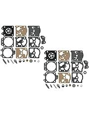 C·T·S Carburateur Reparatie/Rebuild Kit Vervangt Walbro K20-WAT voor Walbro WA WT Serie Carburateur Echo Homelite Husqvarna Stihl Kettingzaag String Trimmer (Pack van 2)