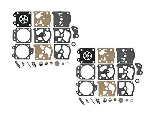C·T·S Carburateur Reparatie/Rebuild Kit vervangt Walbro K20-WAT voor Walbro WA WT-serie Carburateur Echo Homelite Husqvarna Stihl Kettingzaag Snaartrimmer (Pack van 2)