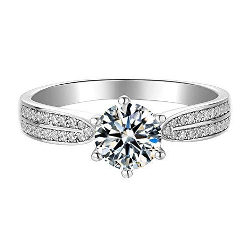 Anillo de plata S925, brazo recto, luz de las estrellas, ramos de flores, amor verdadero, mitad coronada de la bolsa redonda de lujo de Jiangshan-M06A_Número 13