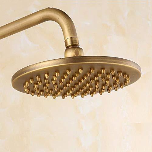 Soffione doccia a pioggia rotondo da 8 pollici 20x20cm, soffione in rame, doccia da bagno in ottone anticato, soffione con braccio, 8 pollici