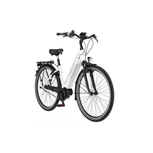 FISCHER E-Bike City CITA 3.1i, Elektrofahrrad, weiß matt, 28 Zoll, RH 44 cm, Mittelmotor 50 Nm, 48 V/504 Wh Akku im Rahmen