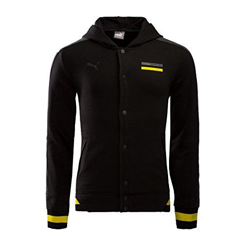 PUMA Herren Jacke BVB Premium Jacket, Black-Dark Gray Heather, XXL