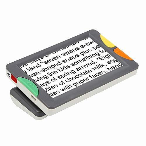 JL Handheld Tragbar 4.3 Zoll-Digitallupe Mit 2X-32X Zoom Elektronische Lesehilfe 15 Arten Farbmodus Unterstützung für Die Ausgabe Auf Dem Fernseher für Sehbehinderung Und Farbenblindheit
