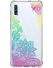 Suhctup Funda Compatible con Samsung Galaxy S10 5G Carcasa Transparente,Dibujo Diseño Flor [Protección Caídas] Ultra-Delgado Flexible Silicona TPU Estuche Cover para Galaxy S10 5G,Mandala 7