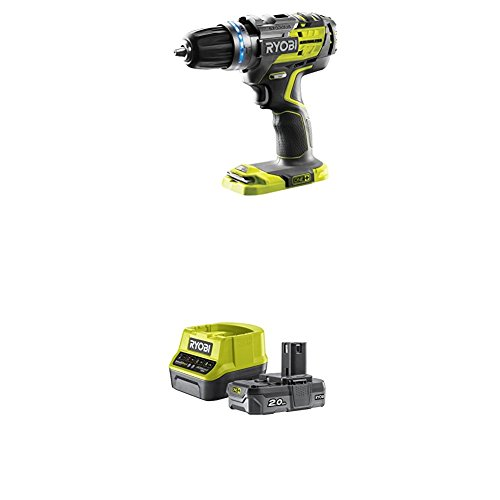 Ryobi R18PDBL-0 18 V ONE+ Cordless Brushless Percussion Drill with Lithium+ 2.0Ah Battery and Charger
