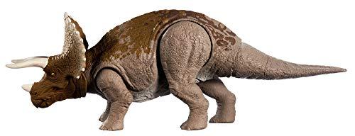 Jurassic World GJN65 - Brüll-Attacke Triceratops Dinosaurier-Actionfigur, Spielzeug ab 4 Jahren