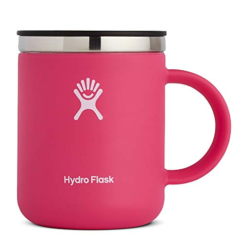 Hydro Flask 12 oz Travel Coffee Mug - Stainless Steel & Vacuum Insulated - Press-In Lid - Watermelon