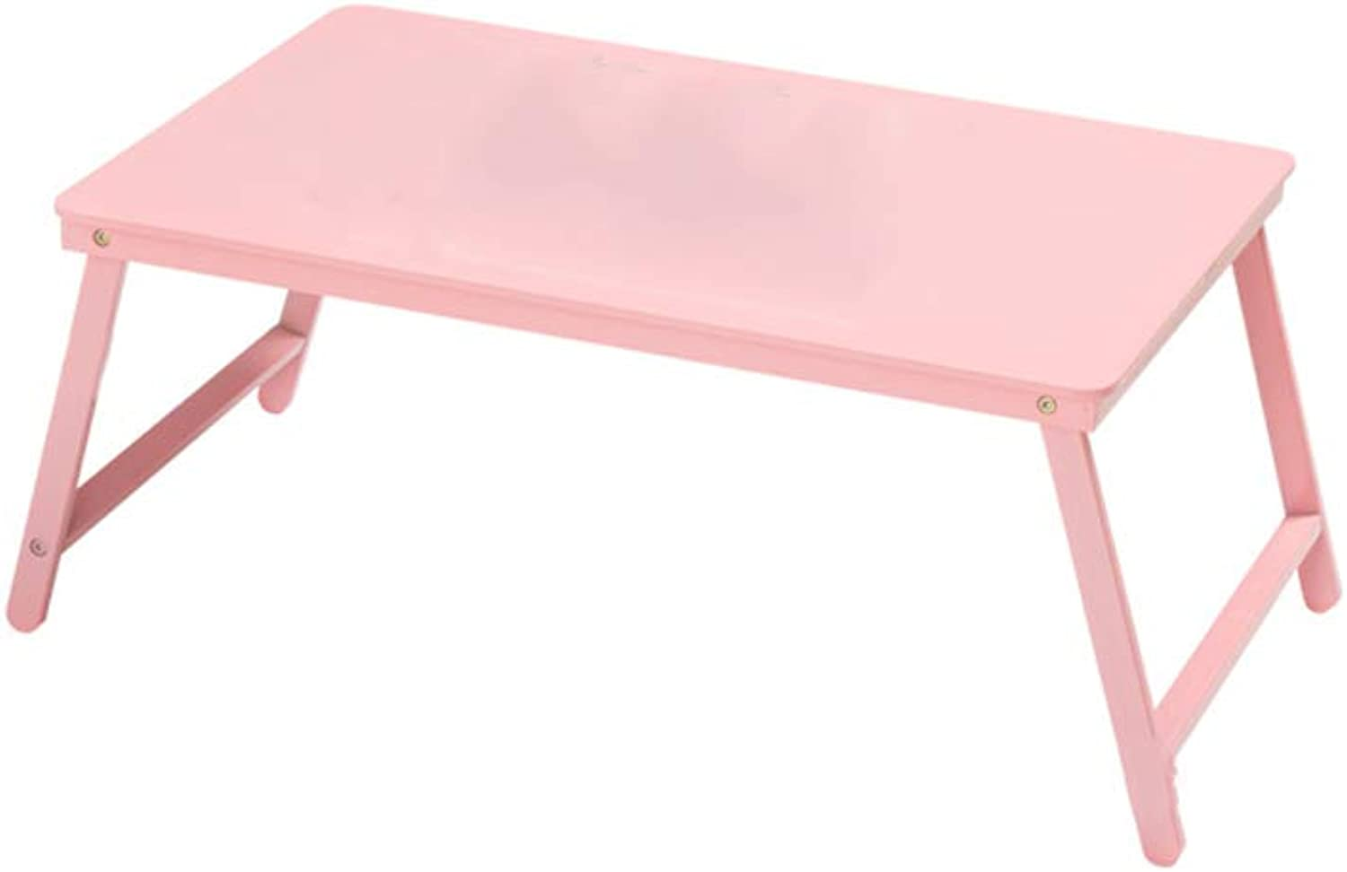 YAXIAO-table Folding Laptop Desk Bed with Small Table Dormitory Lazy Simple Desk Study Table Pink 27x39x60cm