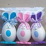 siqiwl Juguete de Huevo Pascua 3 unids DIY Gadgets Decorativos de Pascua Huevo Conejo Fiesta de Pascua Suministros Suministros niños Juguete Bonito Regalo Decoraciones de Pascua plástico