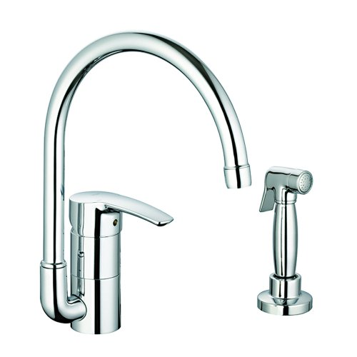 Big Sale Best Cheap Deals Grohe 3398000E Eurostyle Kitchen With Spray, WaterCare Chrome