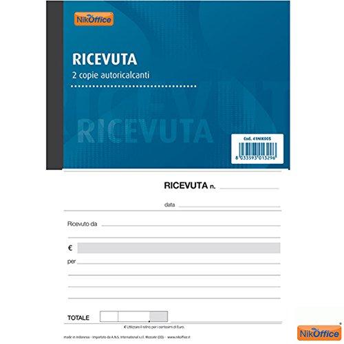 Blocco Ricevuta Generica 2 Copie Autoricalcanti 50 Moduli A6 Ufficio Cancelleria NickOffice