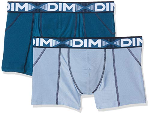 Dim 3D Flex Air, Boxers Homme, Multicolore (Bleu Minuit/Bleu Glacier 96s), Medium, Lot de 2