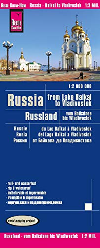 Reise Know-How Landkarte Russland - vom Baikalsee bis Wladiwostok 1 : 2 000 000: world mapping project