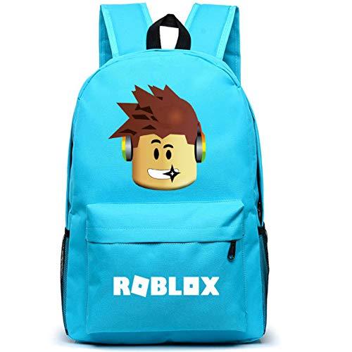 Kids Backpack Daypack School Bookbag Student Laptop Backpacks Ravel Computer Bag for Boys Girls Kids Teenagers Game Fans Gift (Sky Blue)
