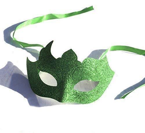 Le caoutchouc plantation TM 619219290401 Vert Paillettes vénitien mascarade Halloween Ball fête Bal Masque pour les yeux avec rubans, adulte, taille unique
