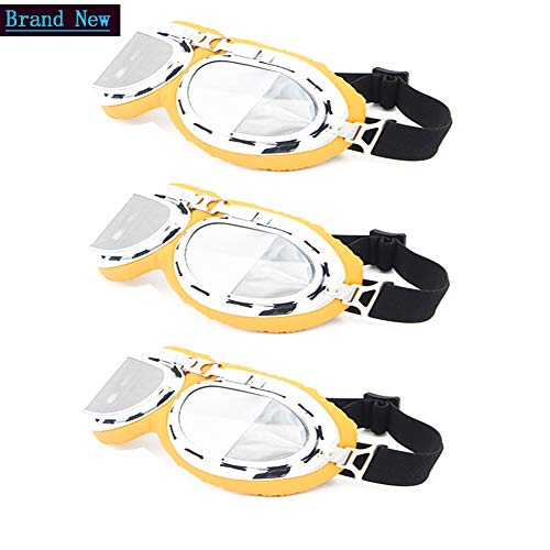 Tanypro 3 Pack Motorradbrillen Männer Retro Weinlese Brille Cruiser Sonnenbrillen Schutzbrille Brillen Für Harley - Flieger Pilot PC Rahmen Globa Stil Helm Gläser Brille