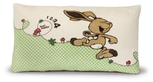 NICI 36517 - Bedruckt und rechteckige Kissen Hase Ralf Rabbit, 43 x 25 cm