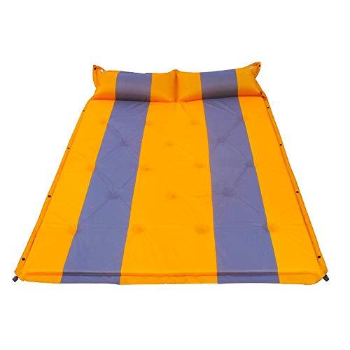 LI Ming Shop Lazy Exterior Inflable Portátil Sofá Bolsa De Aire Colchón Solo Almuerzo Descanso Libre De Aire Cojín Inflable Automático Versión Doble (Color : Orange180x132x3cm)