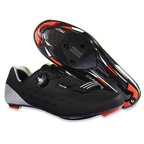 GUARDUU Zapatillas De Ciclismo Carretera Specialized Ligeras Antideslizantes Zapatillas MTB Zapatillas De Ciclismo MBT Amortiguación Resistentes Al Desgaste,A,40(US:7.5)