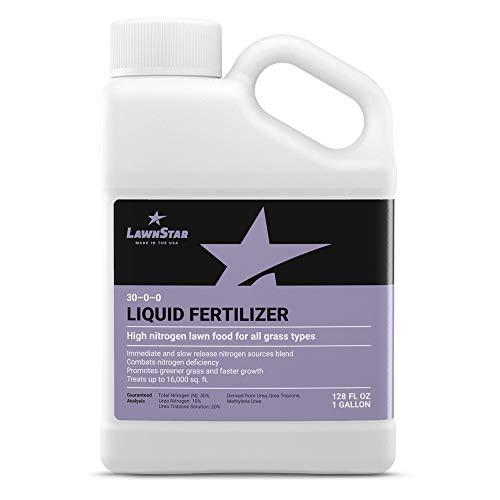Rapid Green & Growth Liquid Fertilizer (1 Gallon) - Premium Lawn Food, 28-0-0 NPK with Slow Release Nitrogen Sources, Treats Deficiency, Safe for All Grass Types