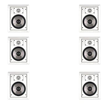6 Speakers JBL SP6II 6.5  In Wall and In Ceiling Home Square Surround Sound Speakers  3 Pairs