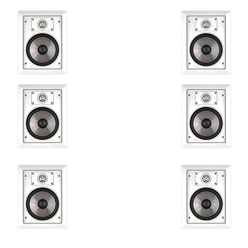 """6 Speakers JBL SP6II 6.5"""" In Wall and In Ceiling Home Square Surround Sound Speakers (3 Pairs)"""