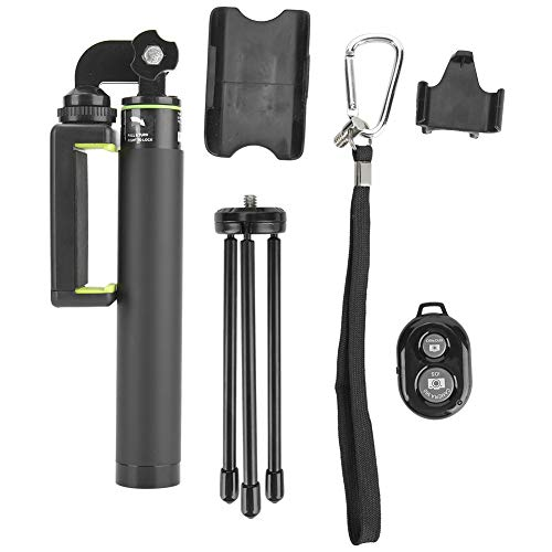 Yctze Treppiede Bluetooth Selfie Stick, Kit treppiede Portatile Selfie Selfie Stick con Telecomando Bluetooth per videocamera Sportiva