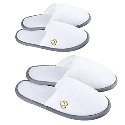 White Spa Slippers Closed
