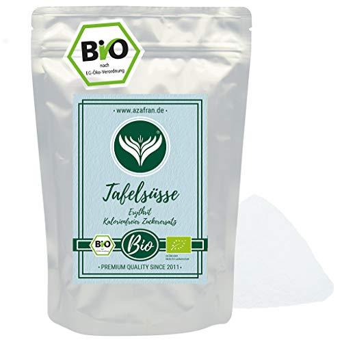 Azafran BIO Tafelsüße Erythrit - Veganer Low carb Zuckerersatz / Zucker Alternative 1kg