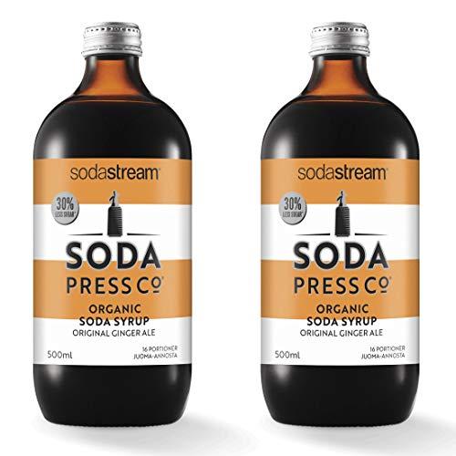 sodastream Soda Press Organic Ale Flavor Mix, Ginger, 16.9 Fl Oz