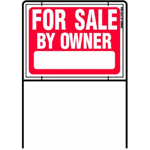 HY-KO Products RSF-605 FOR SALE BY OWNER SIGN 36 in H x 25 in W Red & White