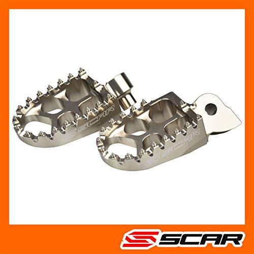 SCAR Repose cale pied Evolution Compatible avec KTM SX SXF 125 150 250 350 450 98-15 - Gris