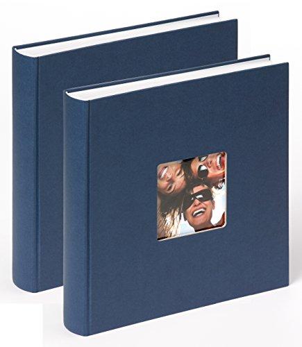 walther design FA-208-LD Designalbum Fun Doppelpack blau, 30x30 cm