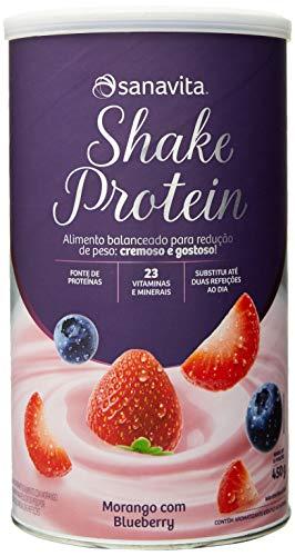 Shake Protein - 450G Morango com Blueberry - Sanavita, Sanavita