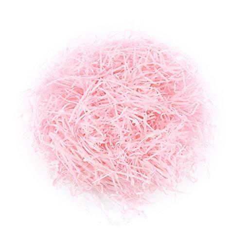 Relleno de papel de seda triturado, 200 gramos cesta de embalaje de papel kraft cesta de regalo relleno de embalaje suministros para fiesta decoración rosa