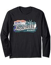 Preferiría estar en Montreal Quebec Souvenir Manga Larga