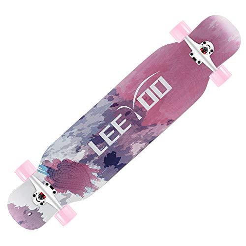 Longboard Skateboard Pro 42 ', Skateboard Completo 8-caply Maple Concave Cruiser, para niños Adolescentes Adultos Principiantes-A_42 Pulgadas