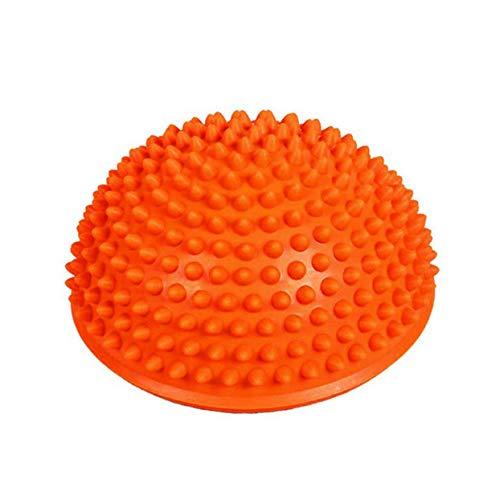 LoveOlvido Gonfiabile Mezza Yoga Palla Esercizio Attrezzature per Il Fitness Balance Board Board Punto Massaggio Ball Board per Bambini - Orange