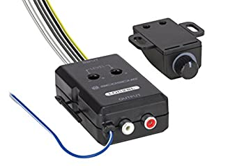 SCOSCHE LOC2SL Car Stereo 2-Channel Audio Adjustable Amplifier Add-On Adapter and Remote Control Knob Black