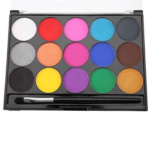 16 colores pintura de la cara no tóxico a base de agua pintura corporal maquillaje conjunto