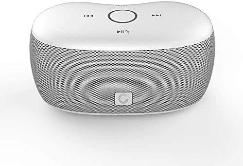 Mopoq Bluetooth Lautsprecher - drahtlose bewegliche Mini-Karte Kleiner Ton Telefon Lautsprecher Subwoofer / 133x72x70MM Lautsprecher (Color : Weiß)