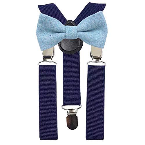 DB Dickie Bow Juego de tirantes y pajarita de lana azul marino para niños y niños
