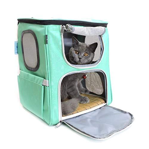 ZY Faltbare Haustier Tasche, Katze Heraus Reise Laden Handtasche Schultern Atmungsaktive Mitnehmertasche Tragbare Katzentasche Hundetasche,Green,nofan