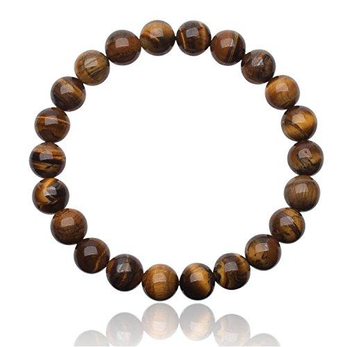 Unique Chakra Buddha echter Tigerauge Perlen Armband 8mm Energiearmband Heilsteine dehnbar Unisex Juweliers Qualität