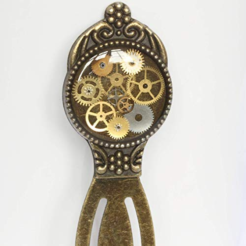 Steampunk Bookmark, Clockwork Bookmark, Watch Parts Bookmark, Fathers Day Gifts steampunk buy now online