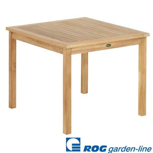 ROG garden-line TL8133: Teak Tisch Cardiff FEST 70x70 cm